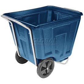 Akro-Mils® 76590 Low Profile Blue 90 Gallon Tilt Cart Without Lid