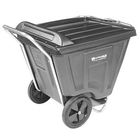 Akro-Mils® 76591 Low Profile Gray 90 Gallon Tilt Cart With Lid