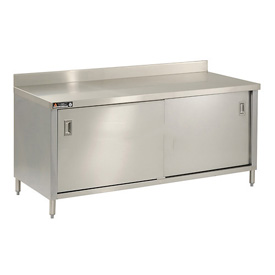 "Aero Manufacturing 2TSBOD-2460 60""W x 24""D Cabinet Workbench With Sliding Doors"