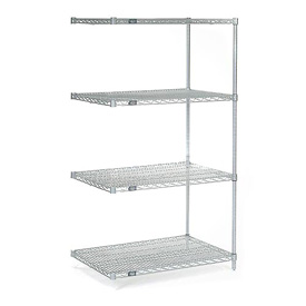 "54""H Nexel Chrome Wire Shelving Add-On - 24""W X 14""D"