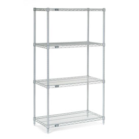 "54""H Nexel Chrome Wire Shelving - 36""W X 14""D"