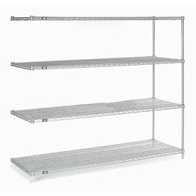 "54""H Nexel Chrome Wire Shelving Add-On - 42""W X 14""D"