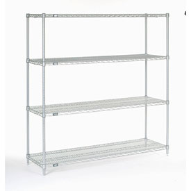 "54""H Nexel Chrome Wire Shelving - 60""W X 14""D"