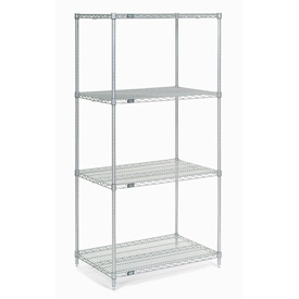"54""H Nexel Chrome Wire Shelving - 36""W X 18""D"