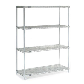 "54""H Nexel Chrome Wire Shelving - 42""W X 18""D"