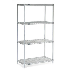 "54""H Nexel Chrome Wire Shelving - 30""W X 24""D"