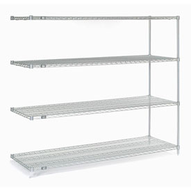 "63""H Nexel Chrome Wire Shelving Add-On - 42""W X 14""D"