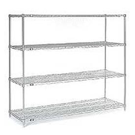 "63""H Nexel Chrome Wire Shelving - 54""W X 18""D"