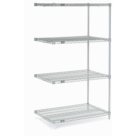"63""H Nexel Chrome Wire Shelving Add-On - 30""W X 24""D"