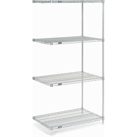 "74""H Nexel Chrome Wire Shelving Add-On - 24""W X 14""D"