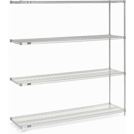 "74""H Nexel Chrome Wire Shelving Add-On - 54""W X 14""D"