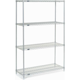 "74""H Nexel Chrome Wire Shelving - 42""W X 18""D"