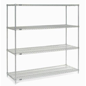 "74""H Nexel Chrome Wire Shelving - 54""W X 18""D"