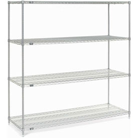 "86""H Nexel Chrome Wire Shelving - 54""W X 18""D"