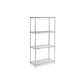"86""H Nexel Chrome Wire Shelving - 24""W X 24""D"