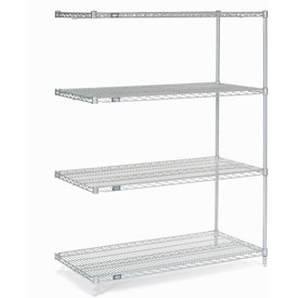 "63""H Nexel Chrome Wire Shelving Add-On - 48""W X 24""D"