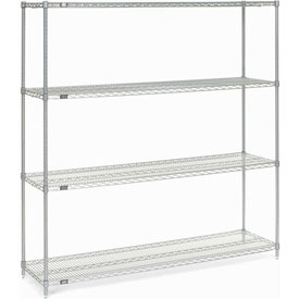 "74""H Nexel Chrome Wire Shelving - 72""W X 18""D"