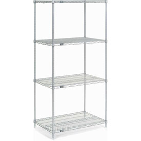 "74""H Nexel Chrome Wire Shelving - 36""W X 24""D"