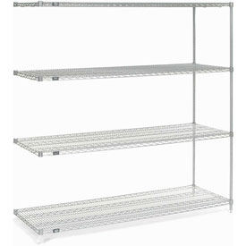 "86""H Nexel Chrome Wire Shelving Add-On - 72""W X 24""D"