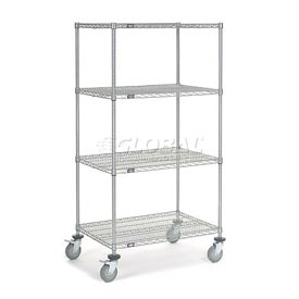 Nexel® Chrome Wire Shelf Truck 36x24x69 1200 Pound Capacity