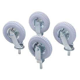 "Nexel® Stem Casters Set of (4) 8"" x 2.80"" Full Pneumatic 1000 Lb. Cap."