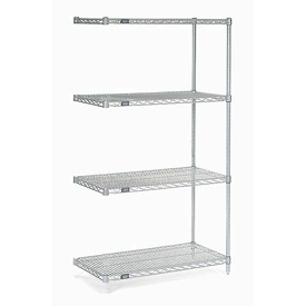 "Nexel Poly-Z-Brite Wire Shelving Add-On 36""W X 18""D X 63""H"