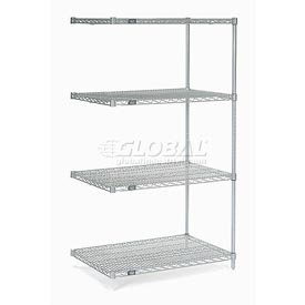 "Nexel Poly-Z-Brite Wire Shelving Add-On 24""W X 24""D X 63""H"