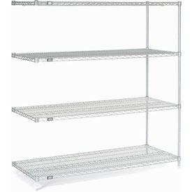 "Nexel Poly-Z-Brite Wire Shelving Add-On 60""W X 24""D X 63""H"