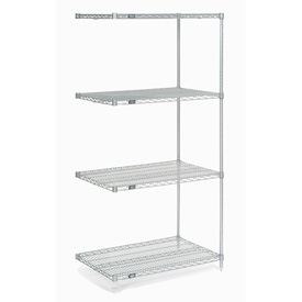 "Nexel Poly-Z-Brite Wire Shelving Add-On 24""W x 21""D x 74""H"