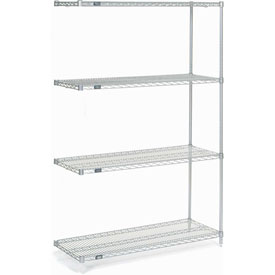 "Nexel Poly-Z-Brite Wire Shelving Add-On 48""W X 18""D X 86""H"