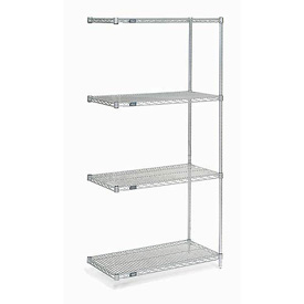 "Nexel Poly-Z-Brite Wire Shelving Add-On 42""W X 24""D X 86""H"
