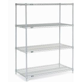 "Nexel Stainless Steel Wire Shelving 48""W X 24""D X 63""H"