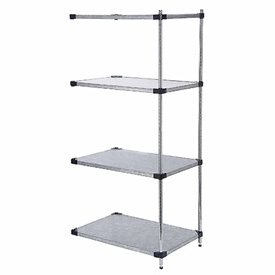 48x18x63 Galvanized Steel Solid Shelving Add-On