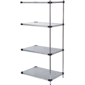 36x24x74 Galvanized Steel Solid Shelving Add-On