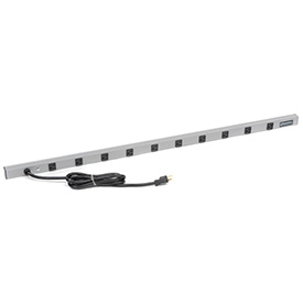 Wiremold 4810ULBD20R-I 48-in 10 Outlet Power Strip with 15-ft Cord, 20Amp