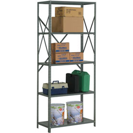"Steel Shelving 20 Ga 48""Wx24""Dx85""H Open Clip Stle 5 Shelf"