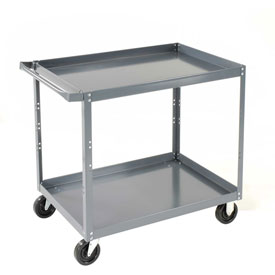 Edsal SC1800 2 Shelf Steel Stock Cart 30 x 18