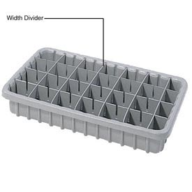 Dandux Length Divider 50P0016037 for Dividable Nesting Box 50P1805040, 50P1811040, Gray
