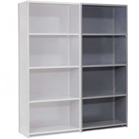 "Steel Shelving 20 Ga 48""Wx18""Dx85""H Closed Clip Style 5 Shelf Add-On"
