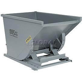 Wright 10077 1 Cu Yd Gray Heavy Duty Self Dumping Forklift Hopper