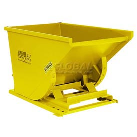 Wright 3399 1/3 Cu Yd Yellow HD Self Dumping Forklift Hopper with Heavy Gauge Base