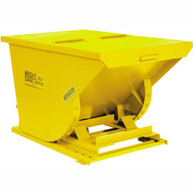 Wright 5099 1/2 Cu Yd Yellow HD Self Dumping Forklift Hopper with Heavy Gauge Base