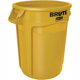rubbermaid brute trash container 20 gallon yellow