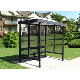 "Smoking Shelter Dome Roof With Three Sided Open Front 7'6"" X 5'"