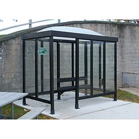 Smoking Shelter Dome Roof Four Sided With Left Front Opening 10'X 5'