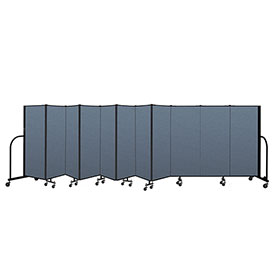 "Screenflex Portable Room Divider 11 Panel, 5'H x 20'5""L, Fabric Color: Blue"