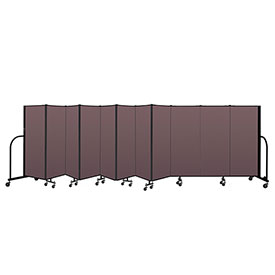 "Screenflex Portable Room Divider 11 Panel, 5'H x 20'5""L, Fabric Color: Mauve"