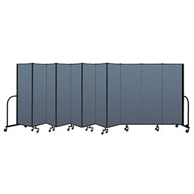 "Screenflex Portable Room Divider 11 Panel, 6'H x 20'5""L, Fabric Color: Blue"