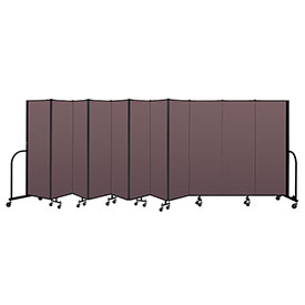 "Screenflex Portable Room Divider 11 Panel, 6'H x 20'5""L, Fabric Color: Mauve"