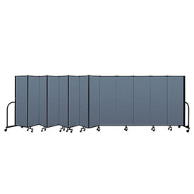 "Screenflex Portable Room Divider 13 Panel, 6'H x 24'1""L, Fabric Color: Blue"